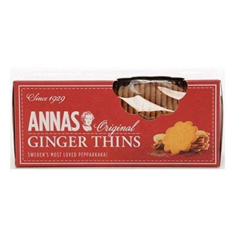 Ginger Thins Original Swedish Pepparkaka Biscuits Annas 150g